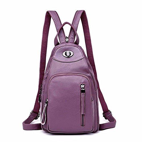 MSZYZ pour Femme Décontracté Vintage épaule Petit Clutch Wristlet épaule en Bandoulière Sacs avec de Nombreuses Poches Cuir PU Souple épaule Grande contenance violet