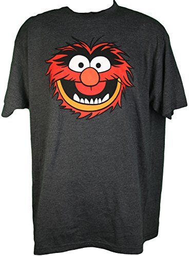 The Muppets Animal Men's Tee Shirt Charcoal XL