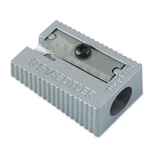 Staedtler : Handheld Metal Manual Pencil Sharpener, Silver -:- Sold as 2 Packs of - 1 - / - Total of 2 - Metal Handheld Staedtler