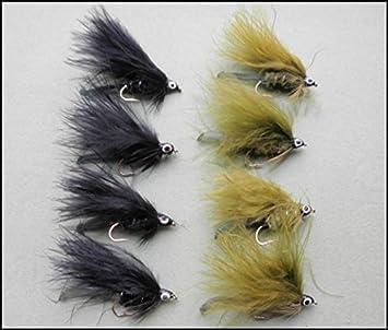 Fasan Schwanz Gr/ö/ße 10//12 12/St/ück Hasen Ohr Oliven Tungsten Bead Forelle Fliegen