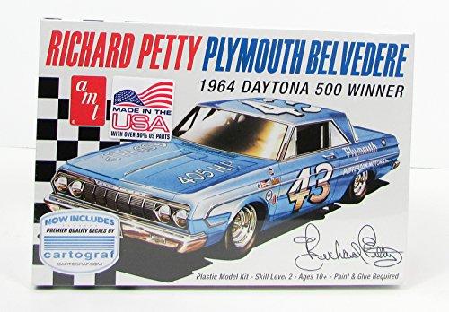 (AMT 989 1:25 Richard Petty Plymouth Belvedere 1964 Daytona 500 Winner Model Kit)