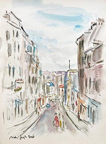Original Paris Watercolor View From the Top of Montmartre