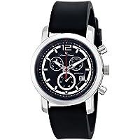 Lucien Piccard Men's LP-12585-01 Toules Analog Display Swiss Quartz Black Watch
