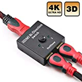 DotStone HDMI Switch Bi-Direction 4K HDMI Splitter 2 x 1/1 x 2 No External Power Required 2 Ports HDMI Switcher Supports Ultra HD 4K 3D 1080P for PS4 Xbox Fire Stick Roku