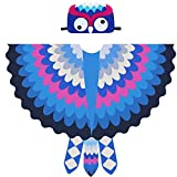 Toddler Kids Fairy Bird Costume Owl Wings Feathered with Mask - Boys Girls Animal Dress-up Party...