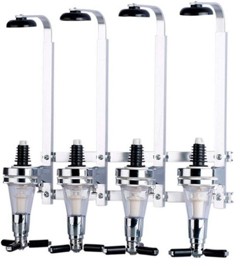 4-Bottle Liquor Dispenser,Wall Mounted Liquor Dispenser Portable Beverage Wine Racks Cocktail Dispenser Wine Holder