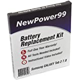 Battery Replacement Kit for Samsung GALAXY Tab 2 7.0 GT-P3100, GT-P3110, and GT-P3113 Series with Installation Video, Tools, and Extended Life Battery