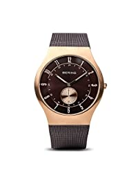 BERING Time 11940-265 Men Classic Collection Watch with Stainless-Steel Strap and scratch resistent sapphire crystal. Designed in Denmark