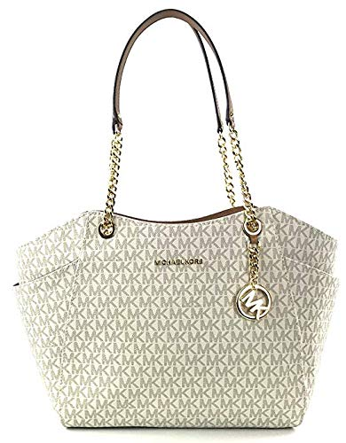 e1d89ad188be Michael Kors Women's Jet Set Travel - Large Chain Shoulder Tote No Size  (Vanilla/