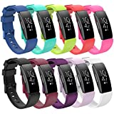 Bands for Fitbit Inspire HR/Inspire/ACE 2, 12 Pack Sports Silicone Replacement Bands for Fitbit Inspire Watch Straps for…