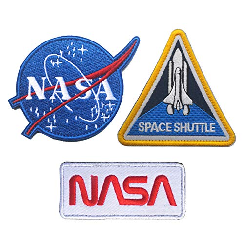 Military Ba 3 Pcs NASA Patches Suitable for Men's Bomber Flight Jacket