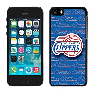 Apple iPhone 5c Protective Case NBA L.A. Clippers iPhone 5c 5th Generation Black Phone Case Cover 01_15327