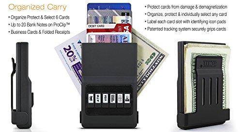 Holder Push 05 Use Credit Wallet Black Easy Organizer Button ACM Front Card Satin Pocket q1Rv4w