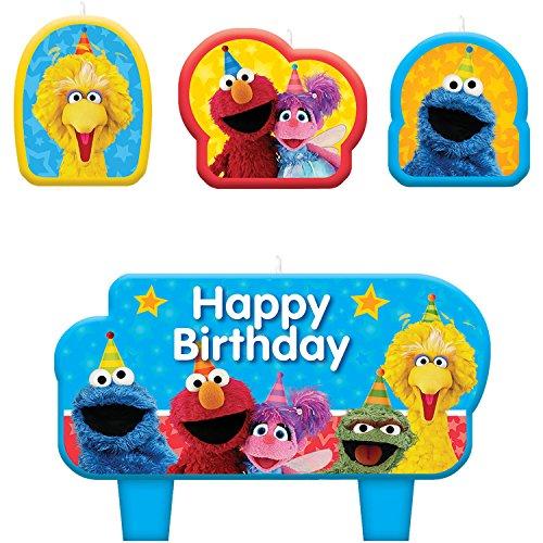 Sesame Street 'Stars' Mini Candle Set (4pc) (Sesame Street Candles)