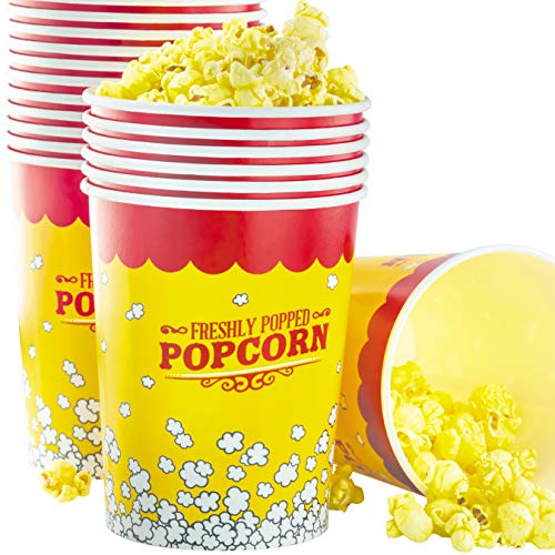 Premium Leak-Free 32 Oz Disposable Popcorn Cup 25pk By Avant Grub. Stackable Buckets With Fun Design. Great For Concession Stands, Carnivals, Fundraisers, School Events, Or Family Movie Nights.]()