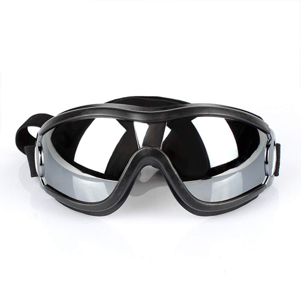 YZMKD UV Protection Pet Goggles, Stylish Adjustable Waterproof Windproof Dog Sunglasses, Pet Swimming Goggles for Medium Large Dog (Black) by YZMKD