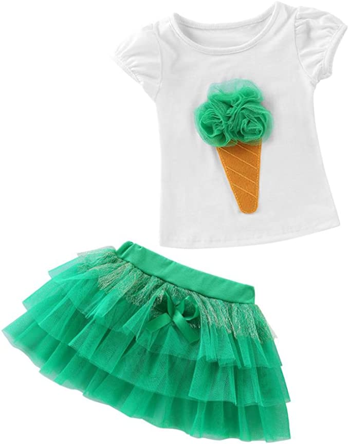 Carolilly Kleinkind Bekleidungsset Baby M/ädchen Outfits Sommer Kleidung M/ädchen 2PCS Sommer Outfits Set