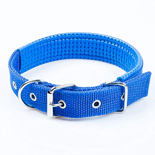 bluee Collar 33cm-46cm bluee Collar 33cm-46cm North cool Dog Collar Large Dog Nylon Collar golden Hair Pet Collar Large and Medium-Sized Dogs Universal Anti-Stretch Neck (color   bluee, Size   Collar 33cm-46cm)