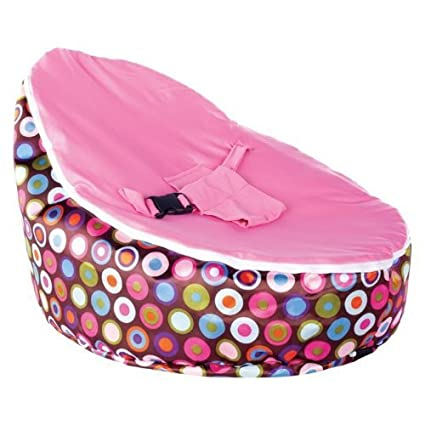 Astounding Little Olive Baby Bean Bag With Filled Beans Pink Polka Dots Caraccident5 Cool Chair Designs And Ideas Caraccident5Info