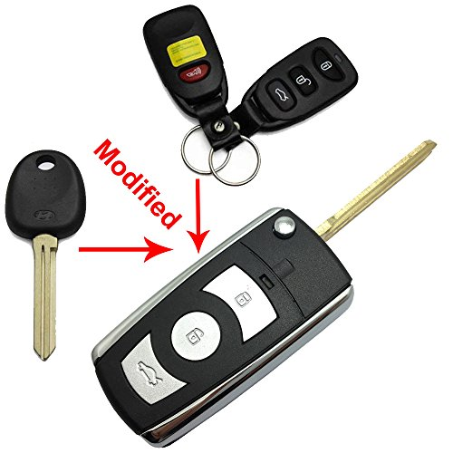 KeylessOption Keyless Entry Remote Car Key Fob Case Shell Uncut Blank Blade Cover Repair For Nissan
