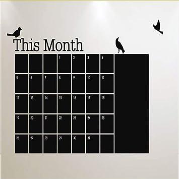 mmwin DIY Mensual Pizarra Calendario Planificador Pizarra ...