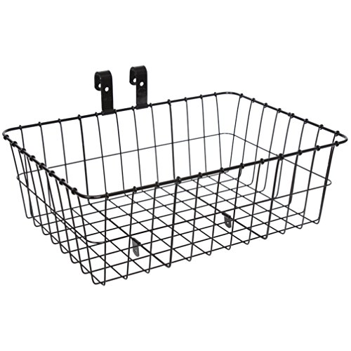 Wald 139 Front Bicycle Basket (18 x 13 x 6, Black) - 139 Finishes