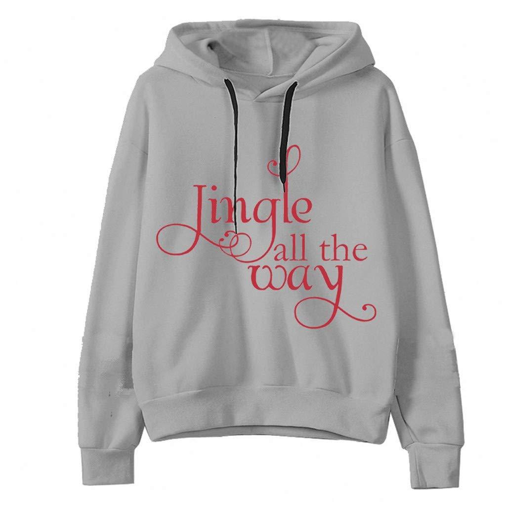 HebeTop Women Casual Hooded Long Sleeve Christmas Print Pullover Hoodies Blouse Tops by ▶HebeTop◄➟HOT SALES
