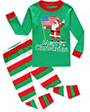 Family Feeling Baby Girls Boys Santa Claus Christmas Cotton Long Sleeve Pajamas Sets T-Shirts Pants 18-24 Months