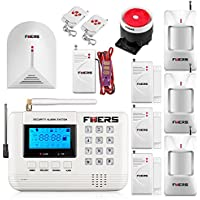 Fuers F-Q2 433mhz GSM PSTN SMS Home Burglar Alarm System Voice Security Alarm Wired Siren Wireless Glass Broken Detector Water Leakage Dectector