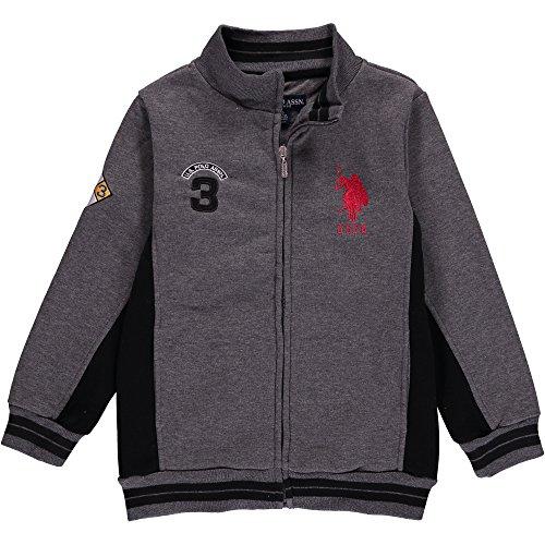 us-polo-association-boys-fleece-mock-neck-jacket-with-striped-ribbing-4t-charcoal