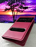 Window Flip Leather Back Cover Battery Housing Case Holster For S-View Flip Book Cover Case for Samsung Galaxy Grand Duos I9082 / Galaxy Grand Neo Gt-I9060 / Galaxy Grand Neo Plus I9060 - Red [For Ladies Gents]