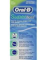 OralB Super Floss Mint Pre-Cut Strands (2 Pack)