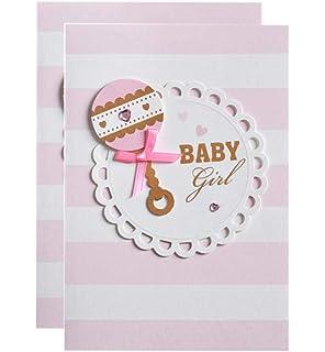 Tarjeta de Invitación Baby Shower Sobre con Lazo - Chica ...
