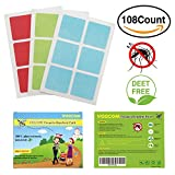 Mosquito Repellent Patch Veecom 108 Count Deet-free All Natural Insect Repellent Sticker for Kids, Baby and Adult
