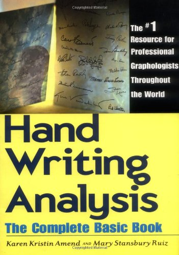Amazon.com: Handwriting Analysis: The Complete Basic Book ...