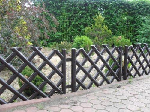 Steccato Giardino Plastica : Steccato recinzione da giardino marrone 3 5 m di lunghezza di