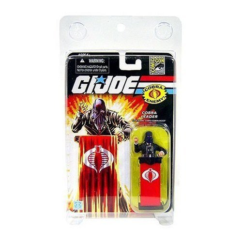 G.I. Joe SDCC Exclusive Cobra Commander (Black Suit) Action Figure (Gi Joe Rise Of Cobra Cobra Commander)