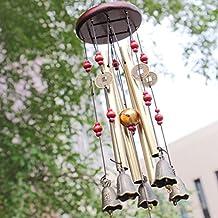 Wood Wind Chime Garden Noisemaker Home Decoration Windchime Bells Coin