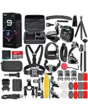 $499 » GoPro HERO9 Black - Waterproof Action Camera with Front LCD, Touch Rear Screens, 5K Video, 20MP Photos, 1080p Live Streaming, Stabilization + 128GB Card and 50 Piece Accessory Kit - Action Kit