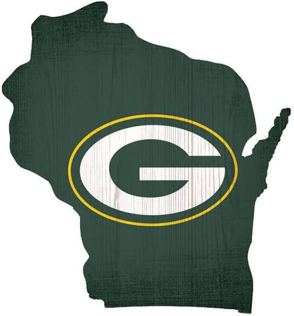 Fan Creations NFL Team Logo State Sign 12 Green Bay Packers
