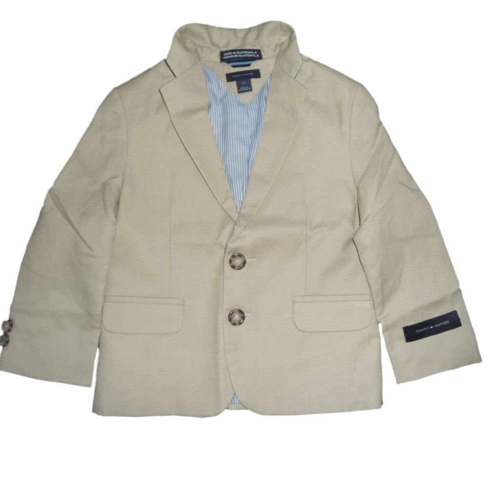 Tommy Hilfiger Niños chaqueta Traje Chaqueta Lino Beige 98: Amazon ...
