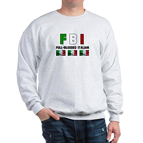CafePress Full-Blooded Italian Sweatshirt Classic Crew Neck Sweatshirt Ash Grey ()