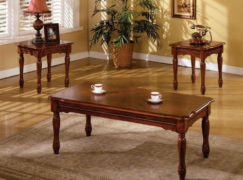 Furniture Of America CM4145-3PK San Carlos 3 Pc. Occasional Table (Parquet Occasional Table)