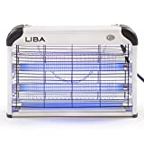 Bug Zapper & Electric Indoor Insect Killer by LiBa - Mosquito, Bug, Fly & Other Pests Killer - Powerful 2800V 20W Bulbs - Free 2-Pack Replacement Bulbs Included