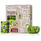 My AlphaPet Compostable Dog Poop Bags - Cornstarch Earth Friendly - Highest ASTM D6400 Rated - 240 Count 16 Unscented Refill Rolls - Large Size 9 x 13 Inches - Leak Proof Doggie Waste Bags