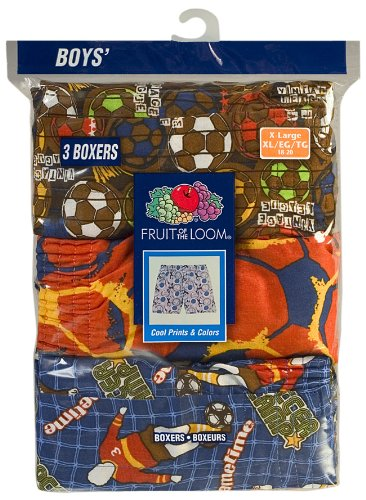 Fruit of the Loom Big Boys' Printed Woven Boxer