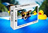PigBangbang,Difficult Jigsaw Glue Premium Basswood - Funny Dog Sunglasses Face Duck Toy - 500 Piece Jigsaw Puzzle (20.6 X 15.1 '')