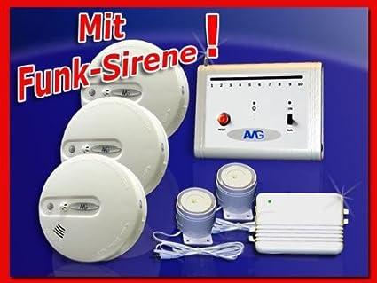 AMG-Alarmtechnik BMS 03 - Juego de alarmas contra incendios ...