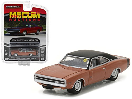 Maisto 1970 Dodge Charger R/T HEMI Dark Burnt Orange Mecum Auctions Collector Series 1 1/64 Model Car by Greenlight