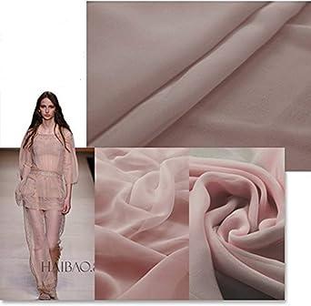 42 Wide 100/% Silk Crinkled Chiffon Blush Pink by the yard 5100M112